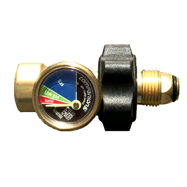 gas safety valve with gauge